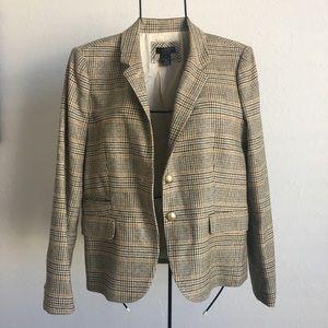 J.crew collection Plaid wool blazer